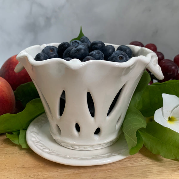 Ceramic Colander Berry Bowl - #1 Single Serving Size FREE U.S. SHIPPING