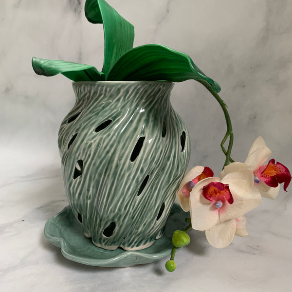 Ceramic Orchid Pot #11 Free U.S. Shipping included in Price