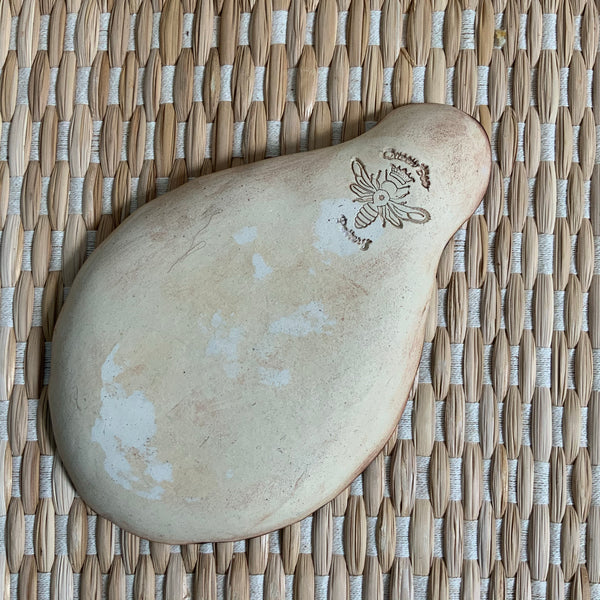 Ceramic Spoon Rest with Honey Bee in Garden Design #4 Rich Honey FREE U.S. SHIPPING