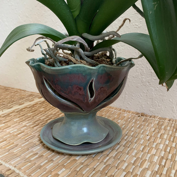 Ceramic Orchid Pot or Berry Bowl - Free U.S. Shipping included in Price