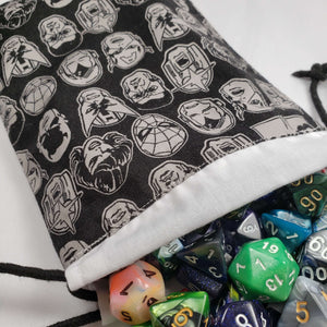 Avengers Faces Drawstring Dice Bag with Dice