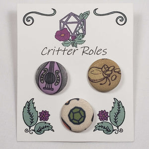 RPG Bard Themed Buttons