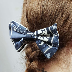 Blue Star Wars Hair Clip in Hair