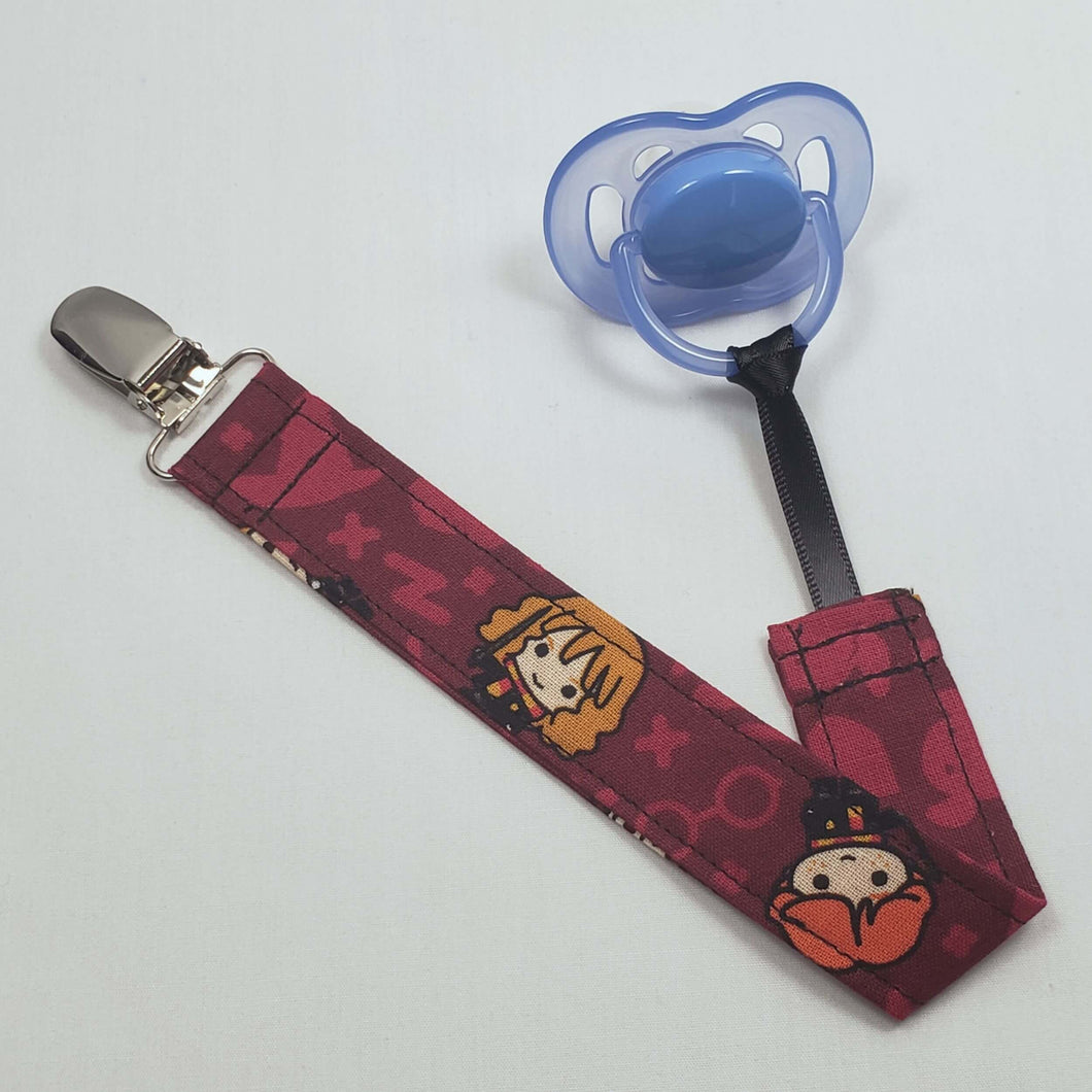 Chibi Harry Potter Characters Pacifier Clip with Pacifier