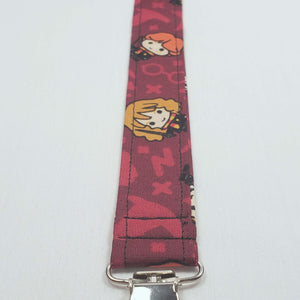Chibi Harry Potter Characters Pacifier Clip Close Up with Clip