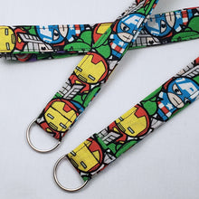 Load image into Gallery viewer, Chibi Marvel Lanyard and Key Fob with Split Ring