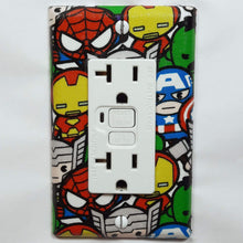 Load image into Gallery viewer, Chibi Marvel Characters Outlet Cover Front View