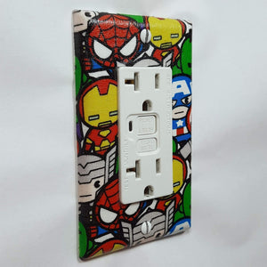 Chibi Marvel Characters Outlet Cover Side View
