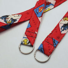 Load image into Gallery viewer, DC Superhero Women Lanyard and Key Fob with Split Ring