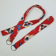 Load image into Gallery viewer, DC Superhero Women Lanyard and Key Fob Full View