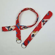 Load image into Gallery viewer, DC Superhero Women Lanyard and Key Fob Looped