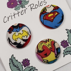DC Superwomen Uniform Buttons Close Up
