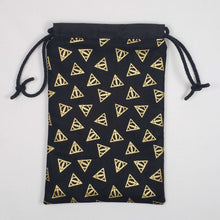 Load image into Gallery viewer, Deathly Hallows Harry Potter Dicebag Open