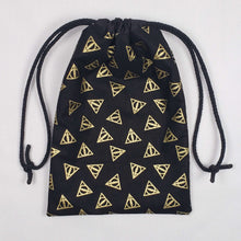 Load image into Gallery viewer, Deathly Hallows Harry Potter Dicebag Strings Pulled