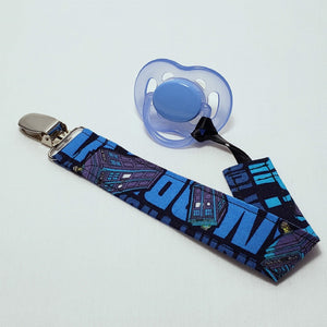 Doctor Who Pacifier Clip with Pacifier