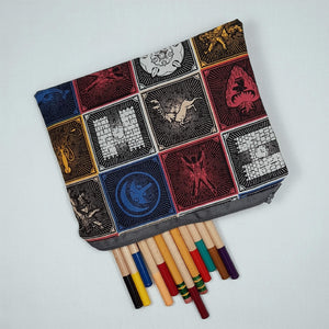 Game of Thrones House Zipper Pouch Top View