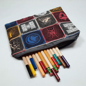 Game of Thrones House Zipper Pouch with Pencils