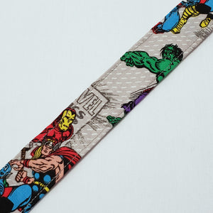 Grey Avengers Pacifier Clip Close Up