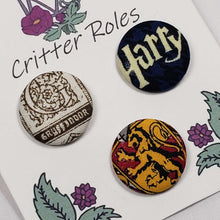 Load image into Gallery viewer, Gryffindor Harry Potter House Buttons Close Up
