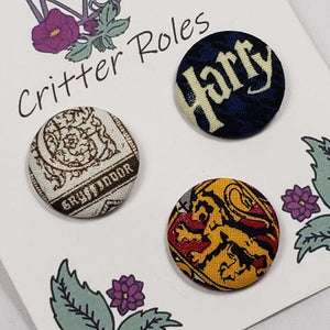 Gryffindor Harry Potter House Buttons Close Up