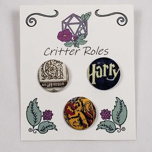 Gryffindor Harry Potter House Buttons