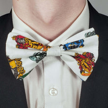 Load image into Gallery viewer, Harry Potter Crests Bowtie on Collar