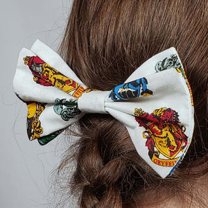 Harry Potter Crests Hair Clip in Hair