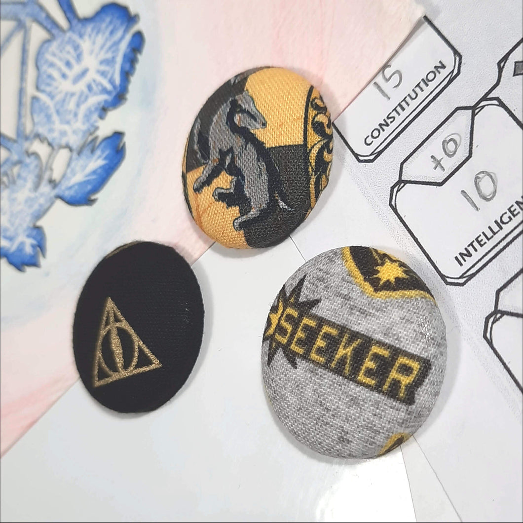 Hufflepuff Quidditch Magnets Right Angle View