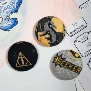 Hufflepuff Quidditch Magnets Front View
