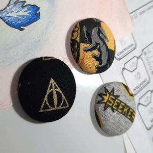 Hufflepuff Quidditch Magnets Left Angle View