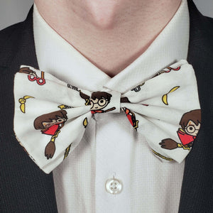Chibi Harry Potter Quidditch Bowtie on Collar