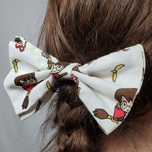 Chibi Harry Potter Quidditch Hair Clip in Hair