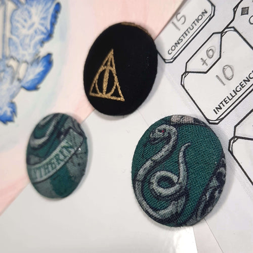 Slytherin Harry Potter Magnets Right Angle View