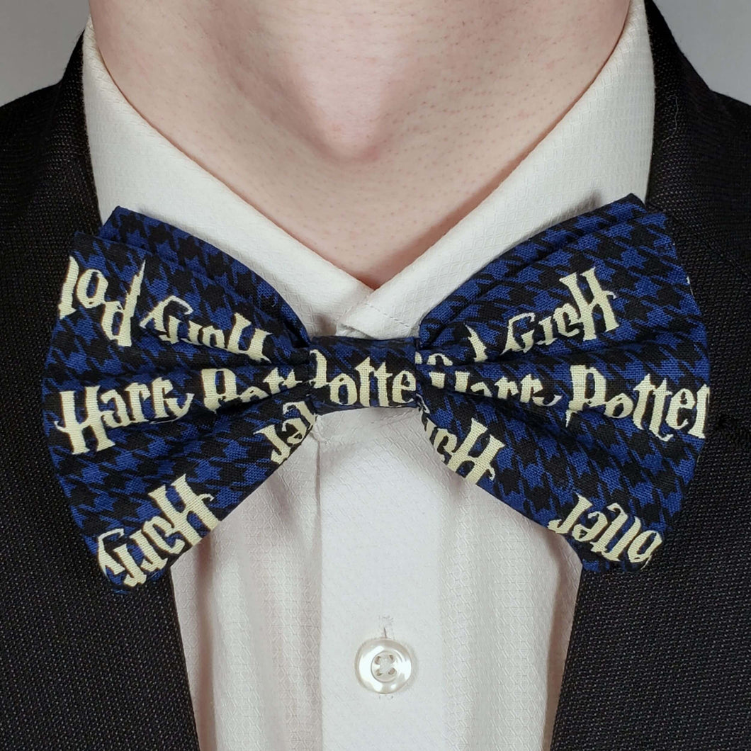 Blue Harry Potter Bowtie on Collar