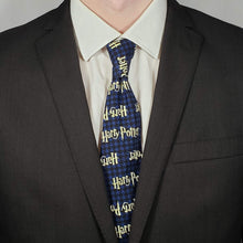 Load image into Gallery viewer, Blue Harry Potter Necktie Worn with Suit