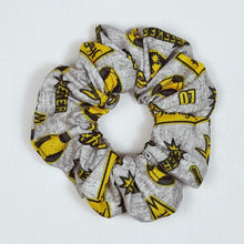 Load image into Gallery viewer, Hufflepuff Emblem Scrunchie Top View