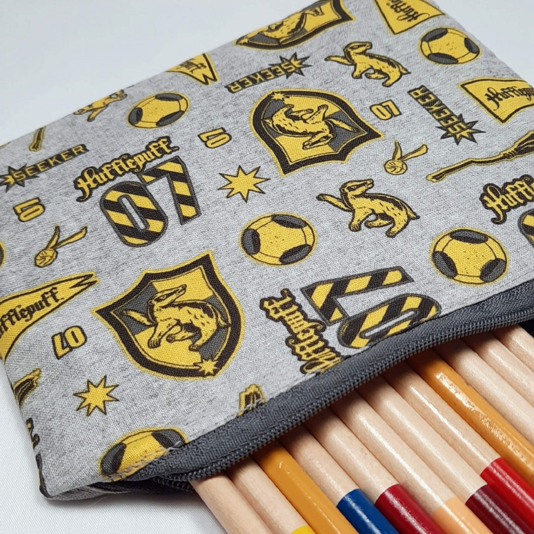Hufflepuff Emblems Zipper Pouch Close Up