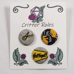 Hufflepuff Harry Potter House Buttons