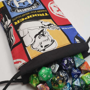 Imperial Squadron Drawstring Dice Bag with Dice