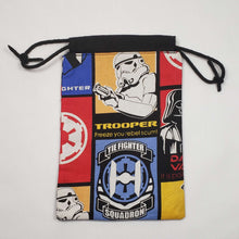 Load image into Gallery viewer, Imperial Squadron Drawstring Dice Bag Open