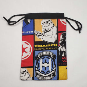 Imperial Squadron Drawstring Dice Bag Open