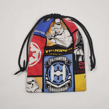 Load image into Gallery viewer, Imperial Squadron Drawstring Dice Bag Strings Pulled