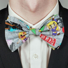 Load image into Gallery viewer, Legend of Zelda Cartoon Bowtie on Collar
