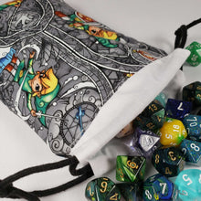 Load image into Gallery viewer, Legend of Zelda Link Drawstring Dice Bag with Dice