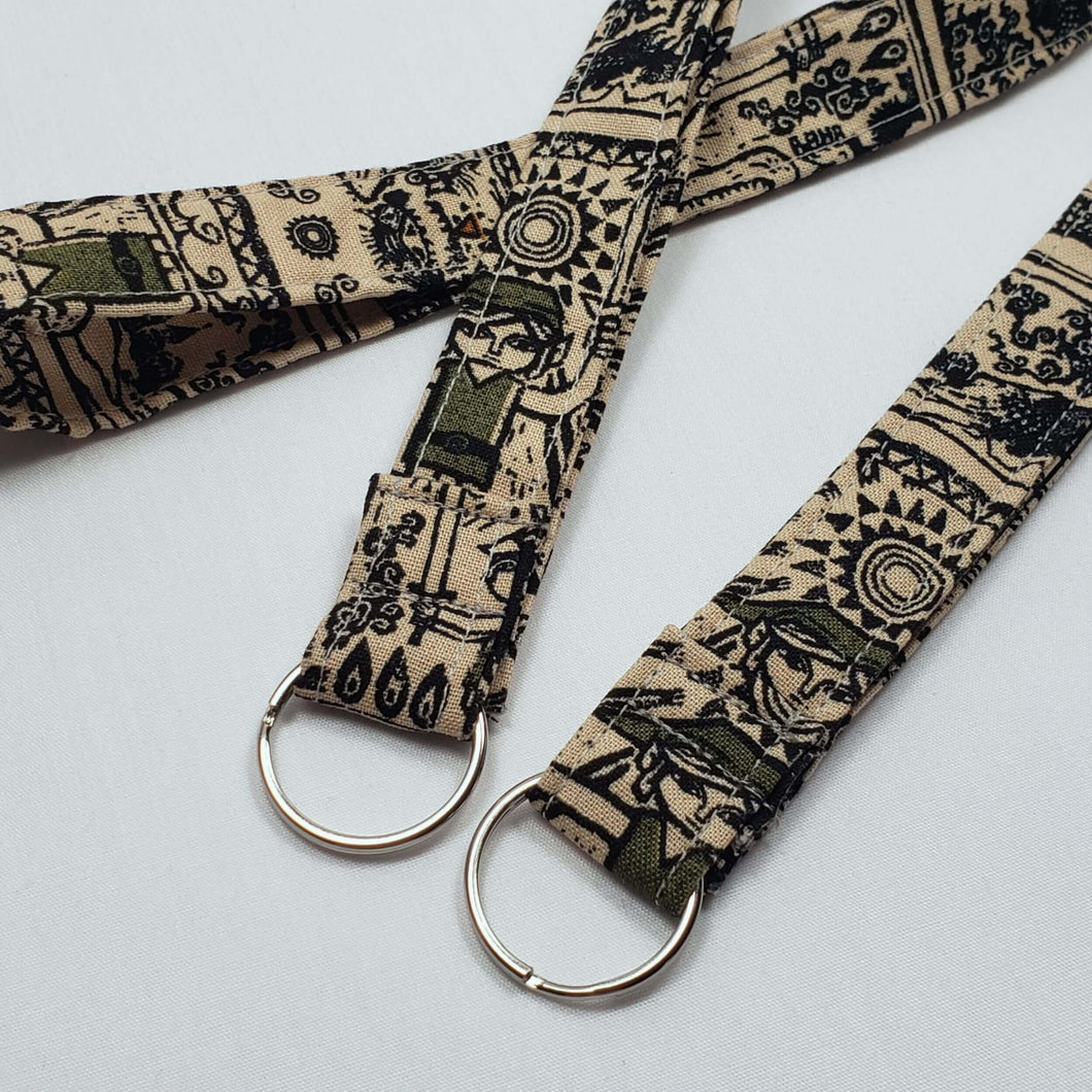 Legend of Zelda Tribal Style Lanyard and Key Fob with Split Ring