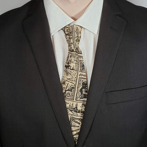 Legend of Zelda Tribal Style Necktie Worn with Suit