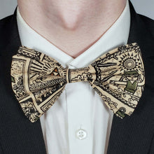 Load image into Gallery viewer, Legend of Zelda Tribal Style Bowtie on Collar