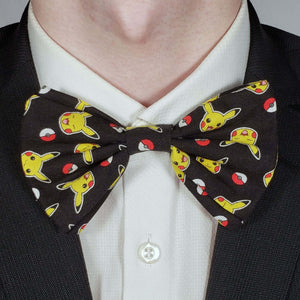 Pokemon and Pokeball Bowtie on Collar