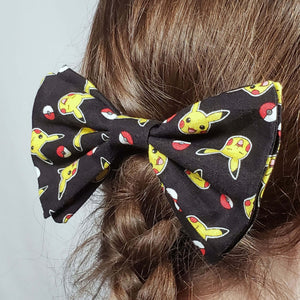 Pokemon and Pokeball Hair Clip in Hair