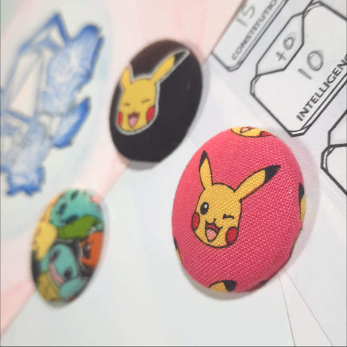 Pokemon Character Magnets Right Angle View